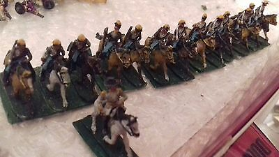 VINTAGE 15mm lot metal WELL PAINTED CONFEDERATE cavalry AMERICAN CIVIL WAR