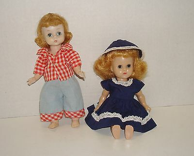 "Vtg Lot of 2 1957 Kellogg's Bride 8"" Doll Outfits Fit Muffie/Ginny/Mdm Alex Kins"