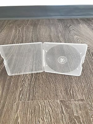 200 Case Slim Square Poly Single Cd/dvd Case - Clear