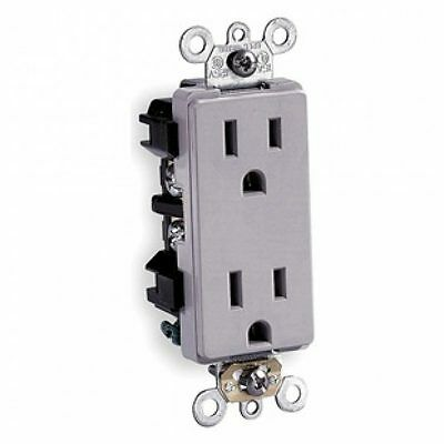 10 Hubbell Grey Commercial Grade Duplex Receptacle Outlets 5-15R 15A Dr15Gry