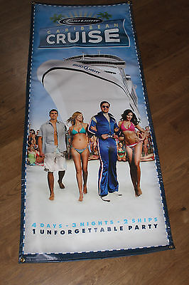 Bud Light Caribbean Cruise Poly Advertisng Wall Hanger Banner 2' x 5' EC