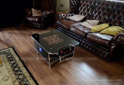 Black Retro Coffee Table, 60 classic arcade games with built in pinball buttons
