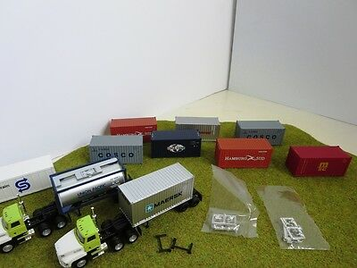 Walthers Containers Athearn Container Chassis Promotex Mack  HO 1/87