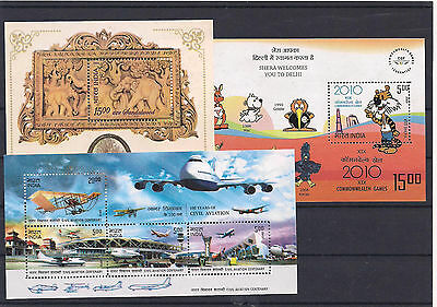 Excellent Range of India Miniature Sheets + Stamp Strip All MNH 5 x Scans