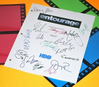 Entourage Pilot Script Signed Rpt 17X Mark Wahlberg, Kevin Connolly