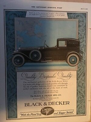 Original Vintage Rolls-Royce Tools By Black & Decker 1926