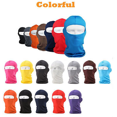 Outdoor Cycling Motorcycle Ski Neck Protecting Lycra Balaclava Full Face Mask A+