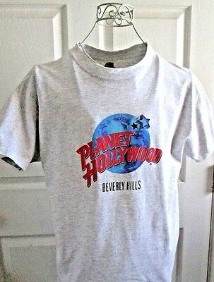 VINTAGE PLANET HOLLYWOOD T-SHIRT BEVERLY HILLS - NWOT - SZ.L (Gray)