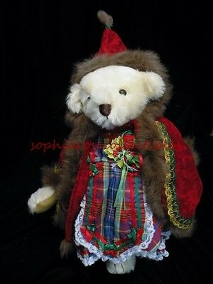 HOLLYBEARY KRINGLE a musical Time Machine Teddy by artist Beverly Port & Gorham