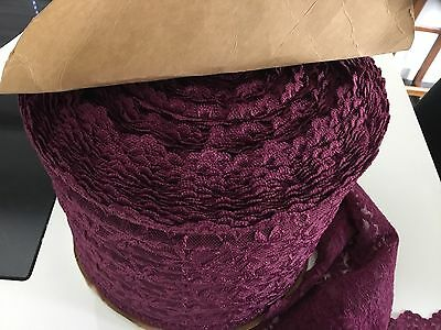 Large Roll Of Plum Colour Lace