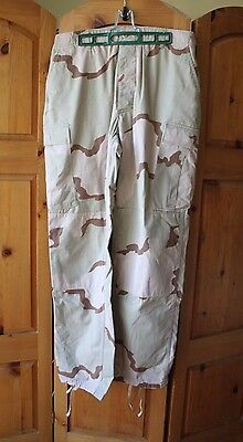 Vintage Military Fatigue Camo Camouflage Pants Size Large Long