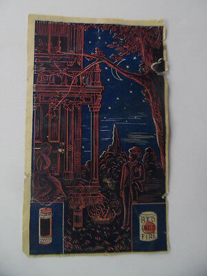 c.1890 Unexcelled Fireworks Company Catalog Price List Trade Card Antique RARE