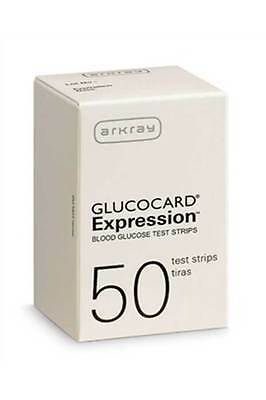 Arkray Glucocard Expression Diabetic Test Strips 50 Ct  #570050 (Exp 07/16/20)