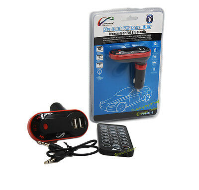 Bluetooth  Wireless Fm Transmitter  With  Dual Usb Changing  Mp3 Player