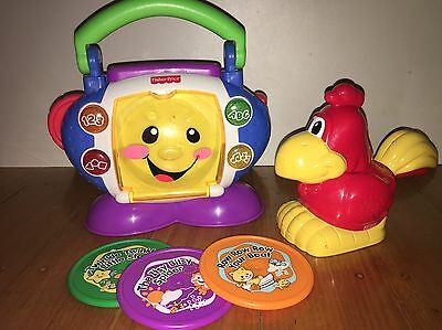 Fisher Price Laugh N Learn CD Player Sing With Me + Light N Sound Torch Rooster