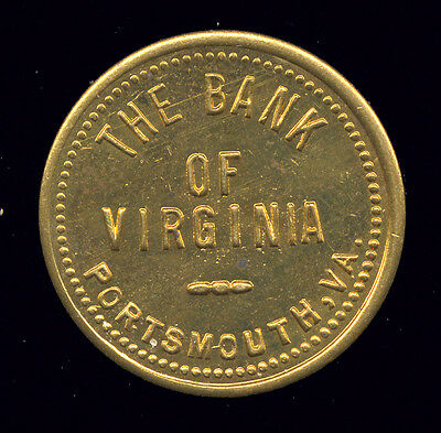 Parking Token ... The Bank of Virgina ... Portsmouth, VA (T-61-402)