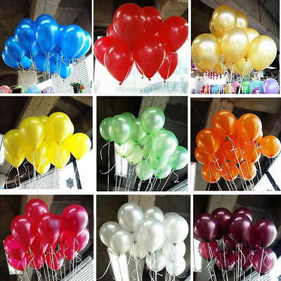 100pcs 10 inch Colorful Pearl Latex Balloon Celebration Party Wedding Birthday H