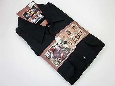 Dickies 1574BK-M Black Short Sleeve Work Shirt Men's Size Medium