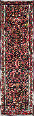 """Hand-knotted Persian Carpet 3'5"""" x 14'1"""" Lilihan Traditional  Wool Rug Runner"""