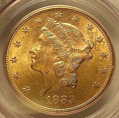 1883-S Liberty Gold $20 Dollar Double Eagle PCGS MS62 *SHARP* FREE SHIPPING
