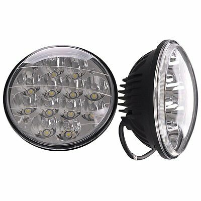 "Pair 5 3/4"" Round CREE LED Spot Headlight Work Lamp Sealed Offroad Truck car"