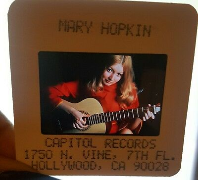 Mary Hopkin Color Transparency Slide Negative Promo Photo Capitol Records