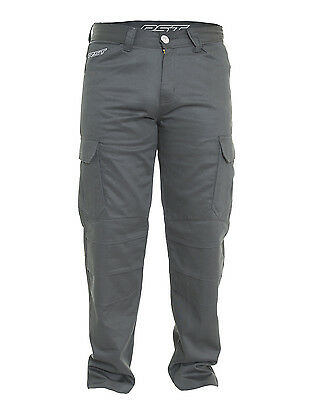 RST Mens T-126 Aramid Lined Motorcycle Cargos - Black Road Street Armoured Prote
