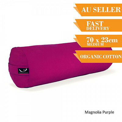 Organic Yoga Bolster Back Support Head Support Reading Bolster 70cm Magnolia