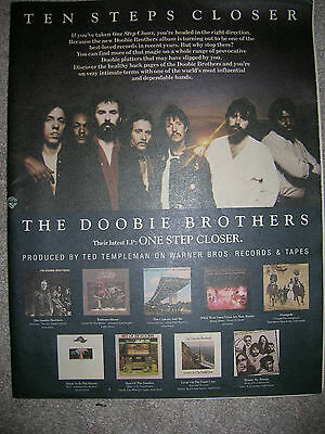 Doobie Brothers 1980 Vintage Advertisement Pinup Poster One Step Closer New Lp