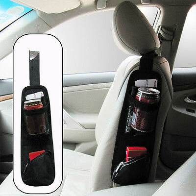 Car Seat Chair Side Pockets Pouch Bag Hanging Storage Organizer for Phone Drink