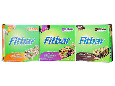 Fitbar Cereals Energy Healthy Food Snack Bar Vitamins Diet (5x24g)
