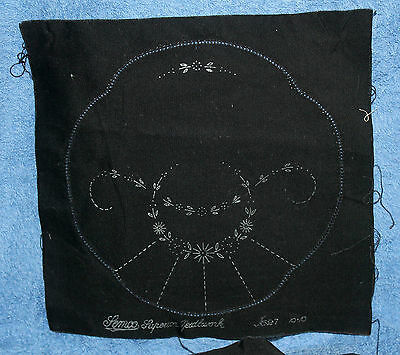 2 X Vintage Un-Worked Semco Black Doilies-Pattern No. J627-Unusual Items.