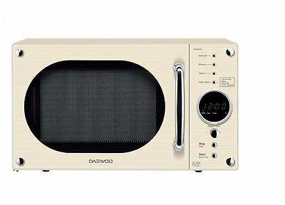 Daewoo KOR8A9RC Retro Style Microwave With 23L Capacity & 800W Power In Cream