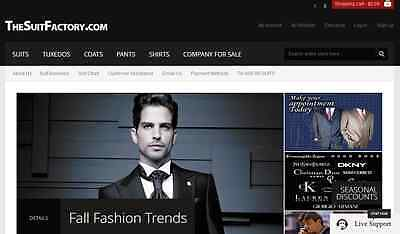 DOMAIN TheSuitFactory.com + 1-888-99-SUITS Vanity Toll Free number