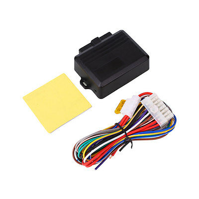 Auto Car Window Roll Up Closer System for 4 Door Cars 12V Universal Black