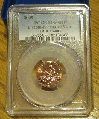 2009  Formative Years  Lincoln  Cent  Pcgs Ms65Rd   Ddr Fs-803
