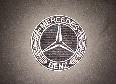 Mercedes Benz Black Sew on / Iron on Patch