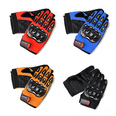 1 Pair 4 Colors Men Gloves Bike Riding Motorcycle Riding Racing Non-slip Gloves