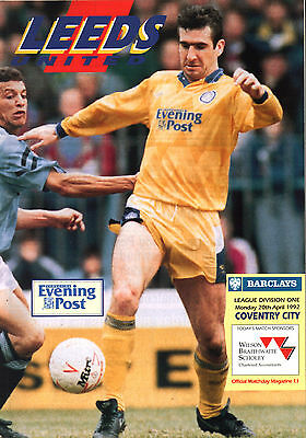 1991/92 Leeds United v Coventry City, Division 1, PERFECT CONDITION