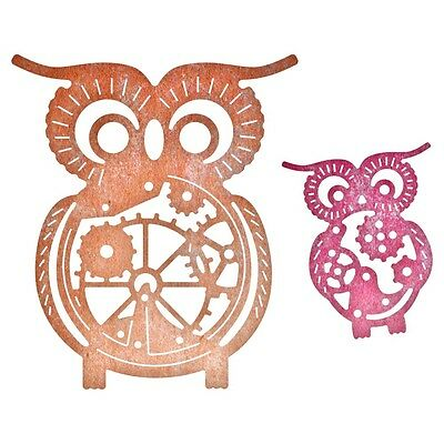 "Cheery Lynn Designs Die - Owls W/ Gears, 2.625""X2.25"""