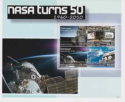 Canouan St Vincent - Space, NASA turns 50, 2011 - S/H MNH