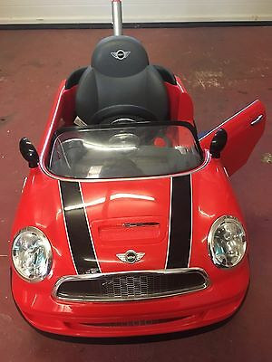 Mini Cooper Push Buggy Car Ride On Toy - Red