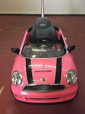 Mini Cooper Push Buggy Car Ride On Toy - Pink
