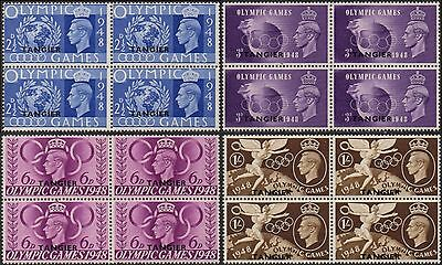 MOROCCO AGENCIES - TANGIER 1948 Olympic Games (blocks of 4)  MNH