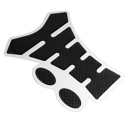 Black Universal Carbon Look Spine Motorcycle Tank Protector Protection Pad