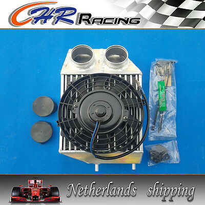 "FOR 5"" side mount Renault 5 R5 GT turbo super capacity intercooler + FAN"