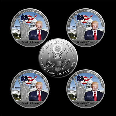 American 45th President Donald Trump Silver Coin US White House Coin CollectionD
