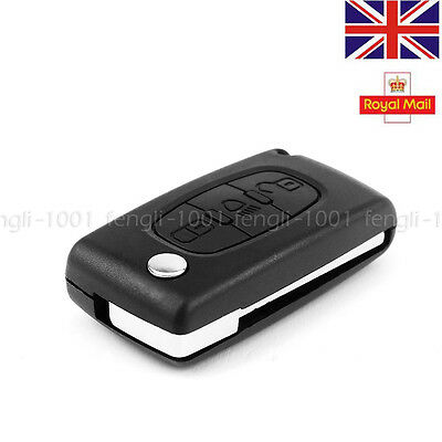 3 Button Flip Key Fob Case Shell Blade For CITROEN C4 C5 C6 C8 REMOTE LIGHT UK