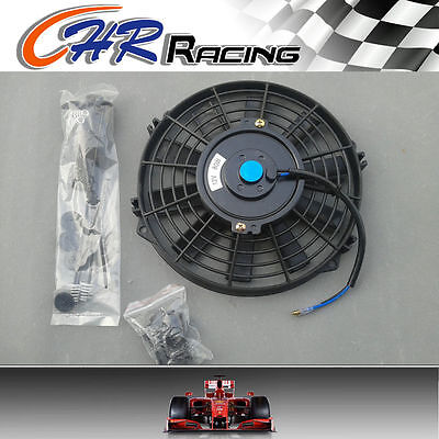 "12"" 12V Slim Radiator Cooling Thermo Fan & Mount kit MGA/MGB 12 inch universal"