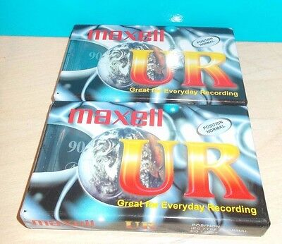 2x Maxwell UR-90 Audio Cassette Tapes New and Factory Sealed